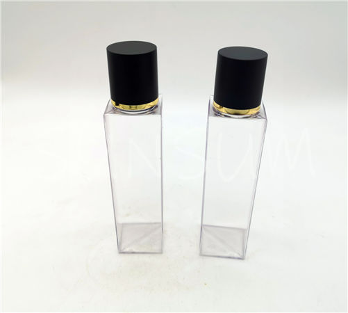 100ml PETG matt finish cap with gold ring 100ml PETG toner bottle