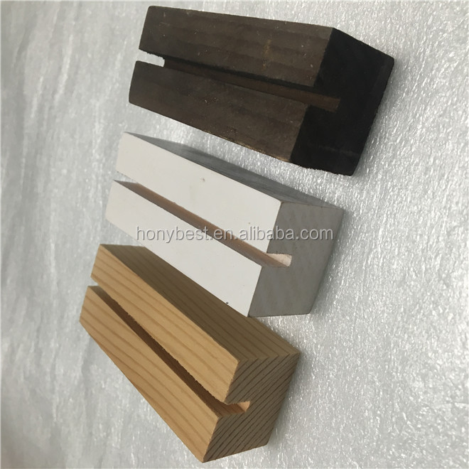 Hot Sale Pine Wood Table Number Card Base Calendar Holder Menu Display Wholesale