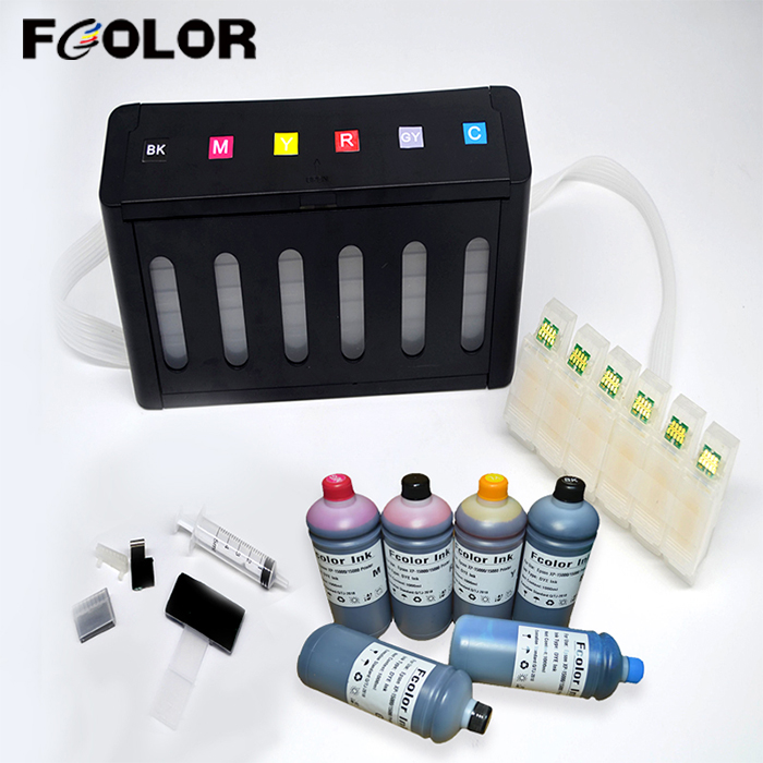 Continuous Ink Supply System With Permanent ARC Chip And 1L Dye Inks For Epson XP-15000 CISS