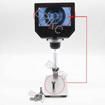 Storage function and industry Digital Stereo Microscope with LCD Screen, folds , changes the angle of the mount