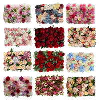 Customized High Quality Wedding Floral Decorative Silk Artificial Flower Wall Rose Backdrop