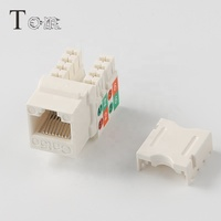 TOM-KJ-15-C5e Network Cabling 90 degree UTP cat5e Keystone Jack module