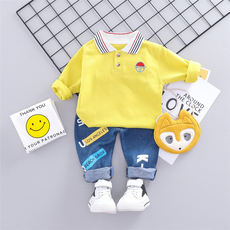 Wholesale boy clothing set babies kids clothes for baby 2 pieces set with high quality