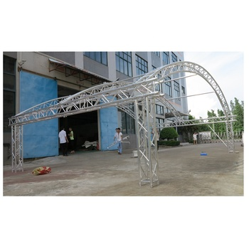 TUV Certificate China Curved Semi Aluminum Truss With Roof Tent
