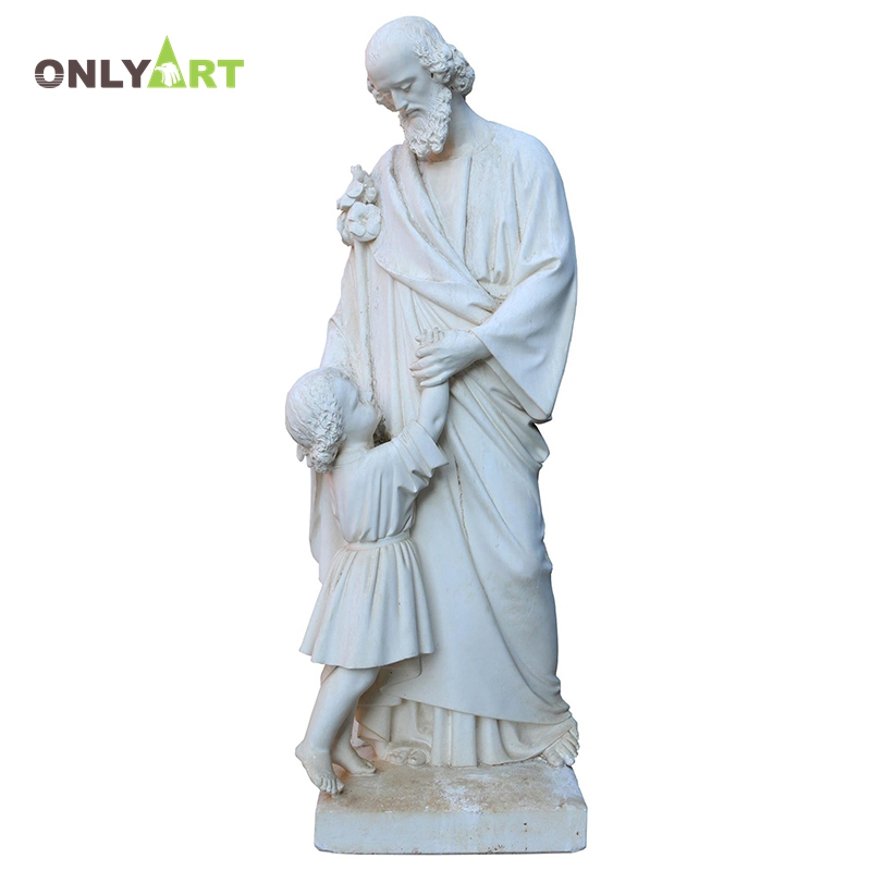 Popular design outdoor life size white marble stone woman with child sculpture for decoration