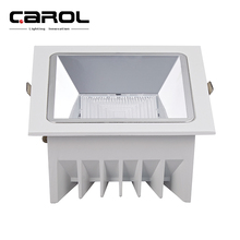 hotel ceiling recessed 240v lifud driver aluminum housing <strong>led</strong> square cob down light