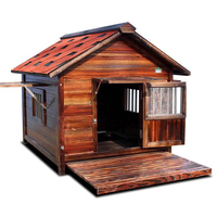 Wooden pet cat outdoor large soild wood pet cat dog house with porch