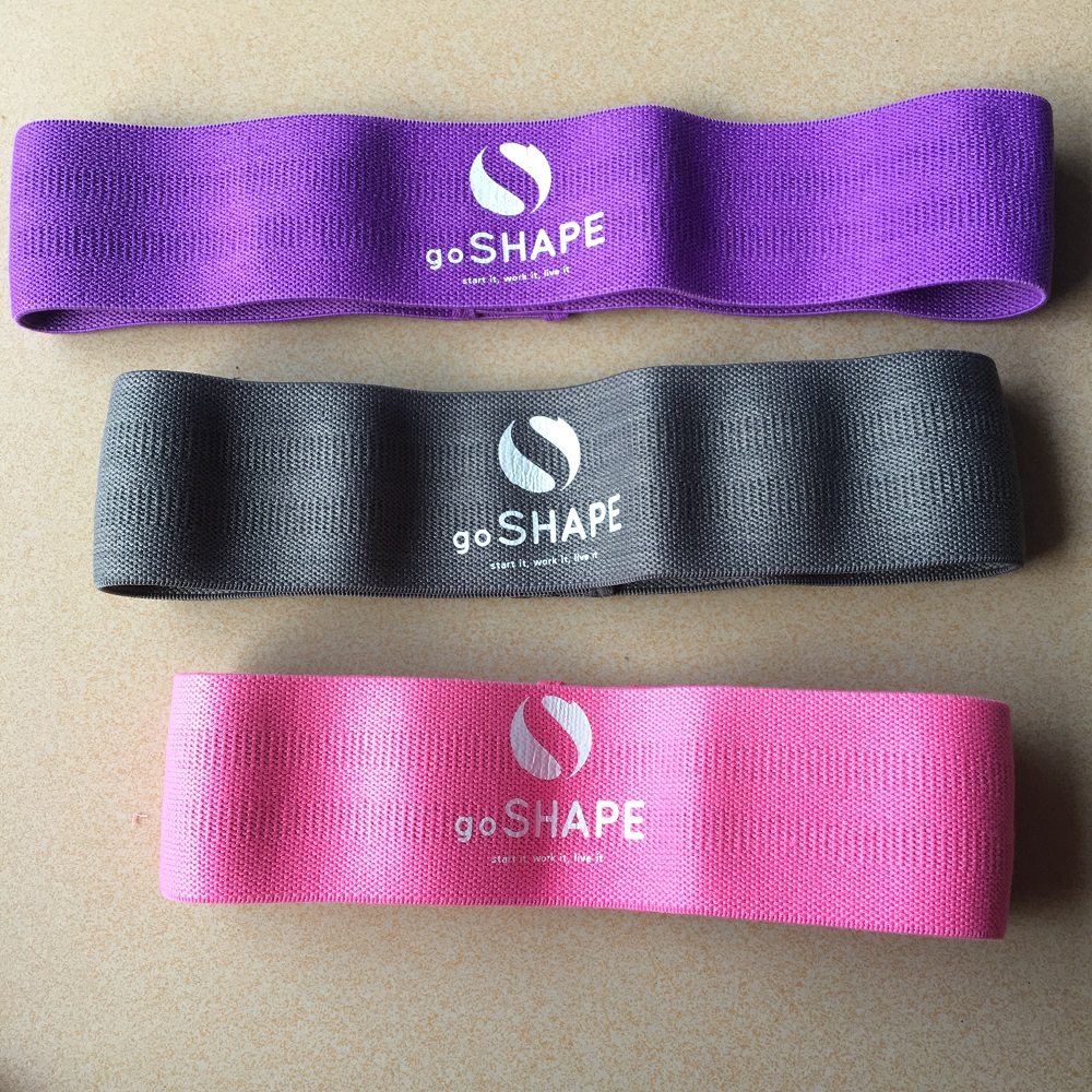 Workout Strength Cotton Elastic <strong>Fitness</strong> Exercise Large Pink Fabric Circle Resistance Band