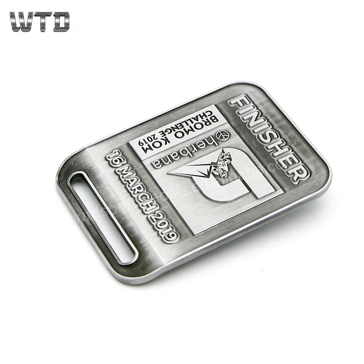 WTD 8 Years Medal Manufacture zinc <strong>alloy</strong> or iron Men Stainless Steel Metal Leather Belt Buckle