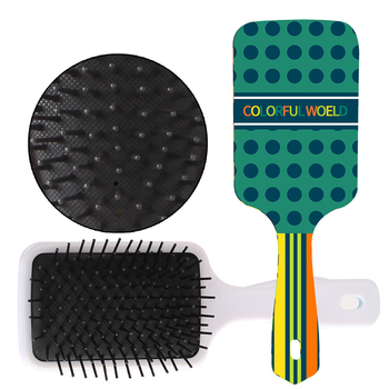 Personalized Custom Logo Printed Anti-static Square Hair Massage Laser Comb