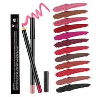private label cruelty free waterproof matte case permanent lip liner pencil with liner lipstick