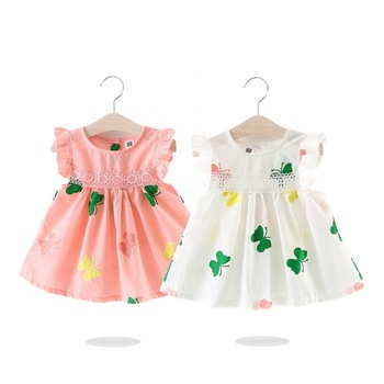 SD-1198G fancy baby frocks cute latest cotton baby dress designs fairy dress