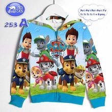 New design 2020 kids clothing jacket printed polyester cartoon boy hoodie jacket
