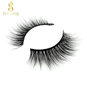 Wholesale Korean Synthetic Fibre 3d Faux Mink Eyelashes with Custom Packaging