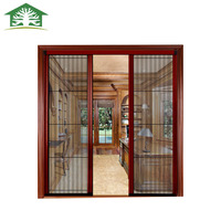 Wholesale wood grain aluminum alloy silent safety door