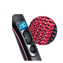 Black Electric Brush wholesale Care Heated Tourmaline Ceramic <strong>Hair</strong> <strong>Straightener</strong>