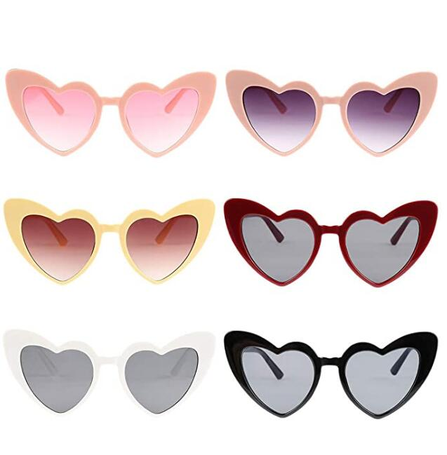 Fashion Retro Funny Summer Men Male Foldable Heart Shape Sunglasses Oversized <strong>C1000</strong>