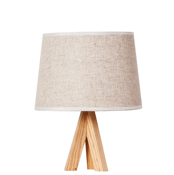 zhongshan nodic simple desk lamp cloth bedroom wooden LED tripod table lamp