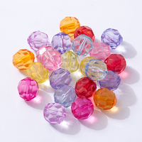 Wholesale 4mm to 30mm perforated or non-perforated jewelry DIY disco transparent acrylic other loose beads