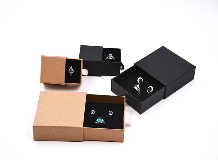 2020 Custom Design Drawer Storage Paper Packaging Box For Packages Kraft Paper Box Jewelry Packaging