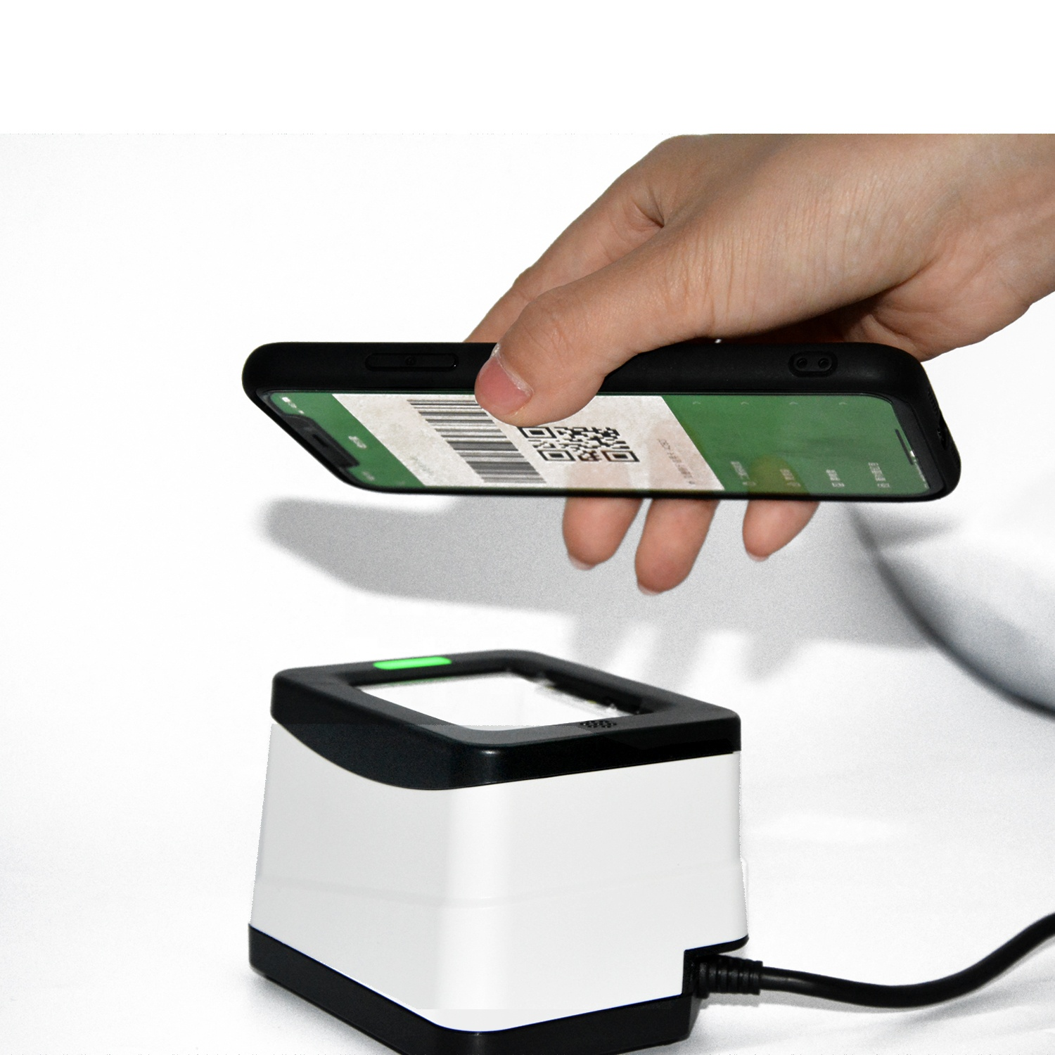 USB / RS232 Mobile Payment Box 2D QR Reader Barcode <strong>Scanner</strong> HS-2001B