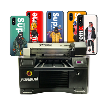 UV Printer Available In All Sizes Funsun 1440dpi dx8 head phone case wood a3 led uv flatbed printer