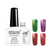 Rosalind professional high quality colorful cat eye uv <strong>led</strong> gel polish soak off magnet cat eye gel nail polish