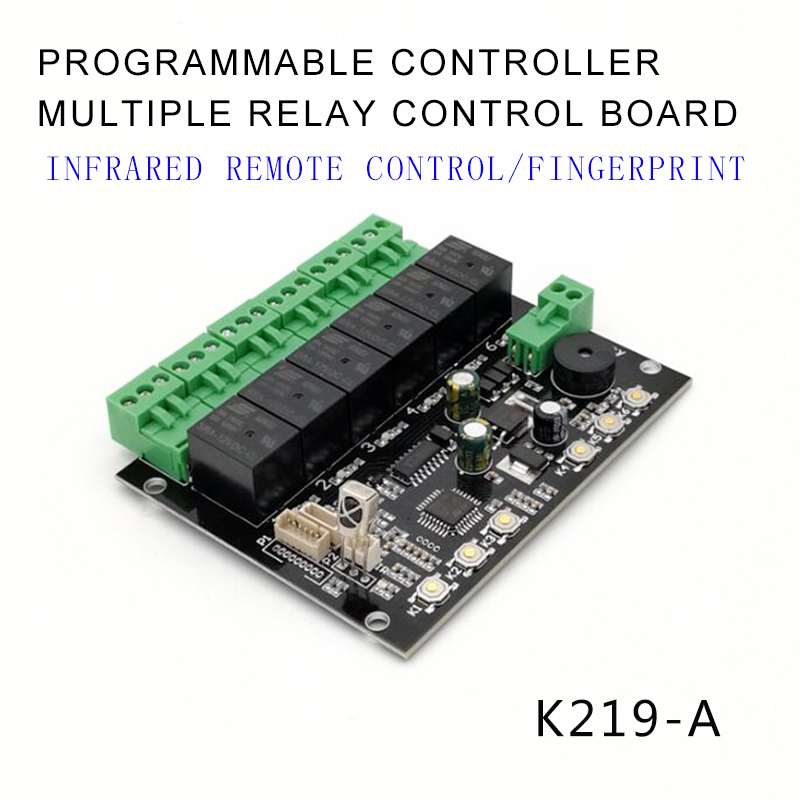 GROW K219-A Programmable Multiple Relay Fingerprint Infrared Remote Controller Control Board