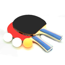 Table tennis racket for beginners, children's finished double racket suit, horizontal and straight 2 sets