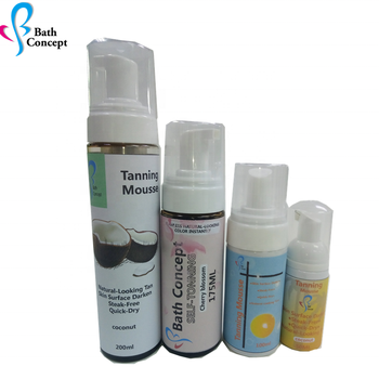 OEM self tanning lotion private label tanning mousse