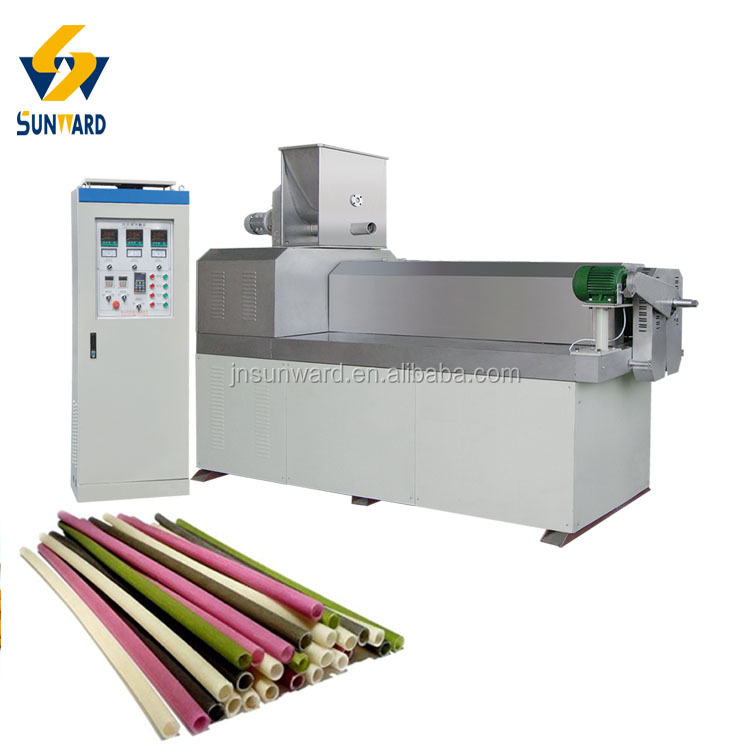 Natural Biodegradable Degradable Colorful Edible Rice Straw Production Line Machinery Equipment Plant