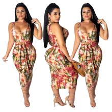 YHMX17 2019 sehe fashion midi floral women dresses for summer