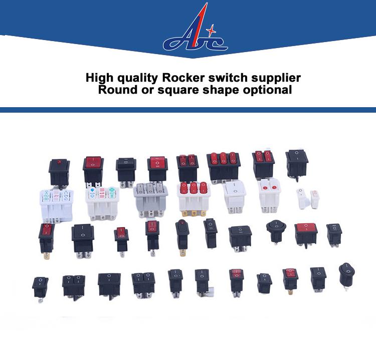 A HORN ORANGE Laser Etched LED Rocker Switch 5 PIN Dual Light 20A 12V ON OFF