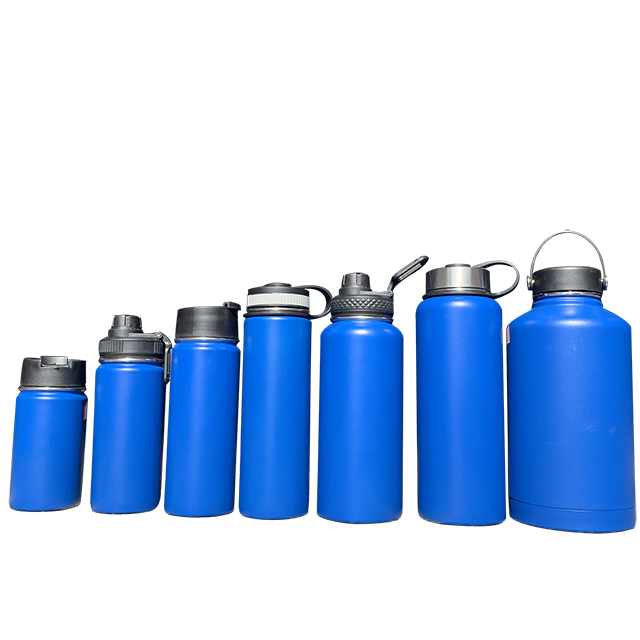 Double wall insulated vacuum flask flip top army hiking stainless steel water bottle for outdoor <strong>sports</strong>