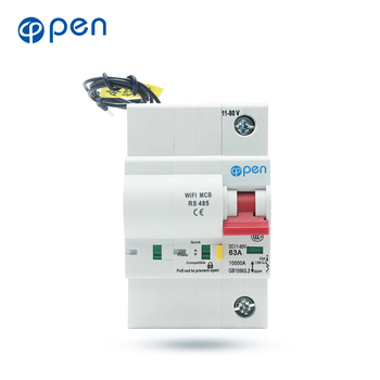 OPEN 1P DC WIFI Circuit Breaker with RS485 Communication Interface overload/ short circuit protection