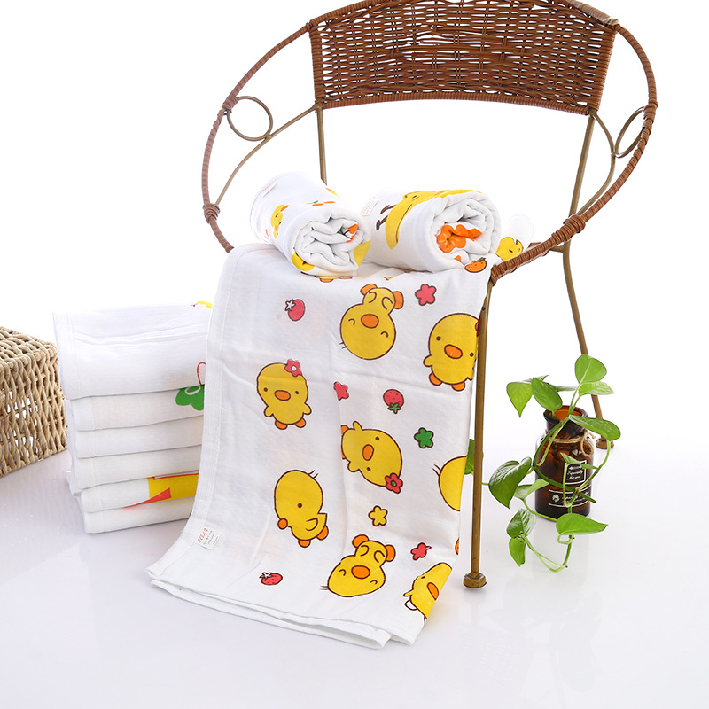 Double layer honeycomb printing cartoon all cotton baby cartoon baby towel 60 * <strong>120</strong> cartoon
