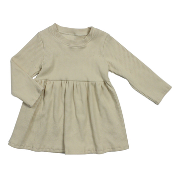 Longsleeve Ivory baby girl Winter Party Trendy frock design for ladies