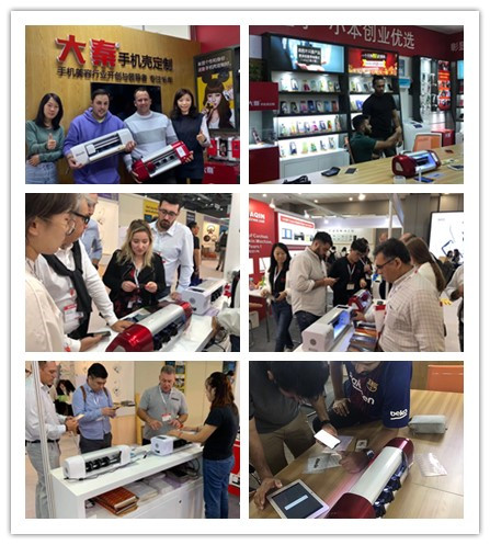 Daqin cutter cutting machine for making mobile phones tpu laminating touch guard screen protector