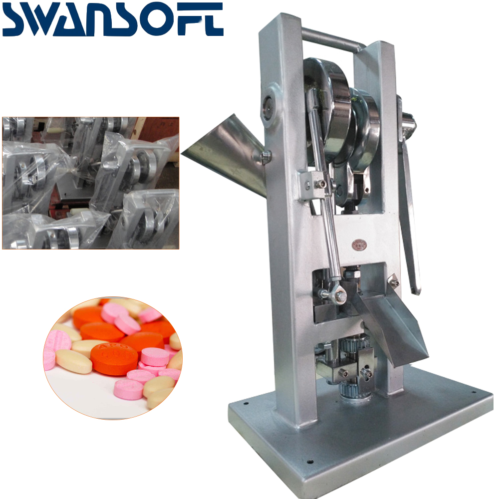 SWANSOFT TDP-0 Tablet Press,Manual Type TDP 0 Single Punch Tablet Press Candy Tablet Press Machine