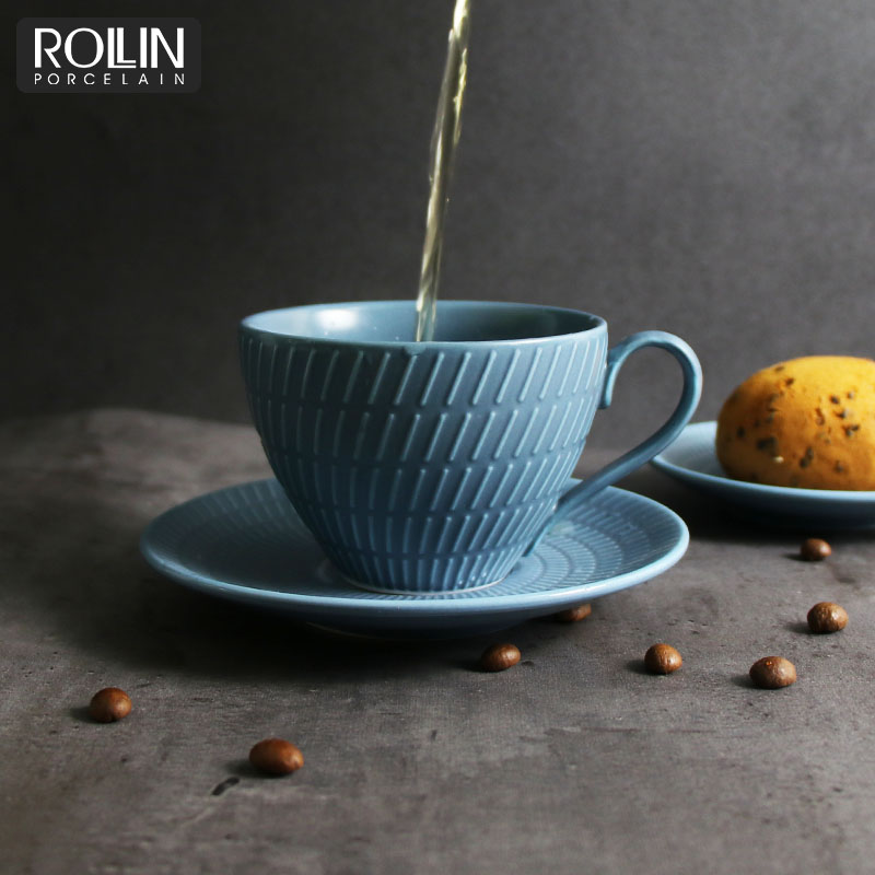Hot Selling  color coffee cup with saucer for hotel and restaurant