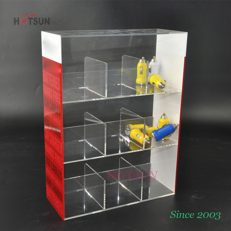 Custom clear acrylic cigarette display case for sale/ Acrylic table top display / wholesale custom acrylic display case