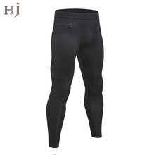 New Quick-dry Gym clothing <strong>men</strong> leggins <strong>Men's</strong> Compression Workout Tights Sweat Jogging Sport leggings with zipper