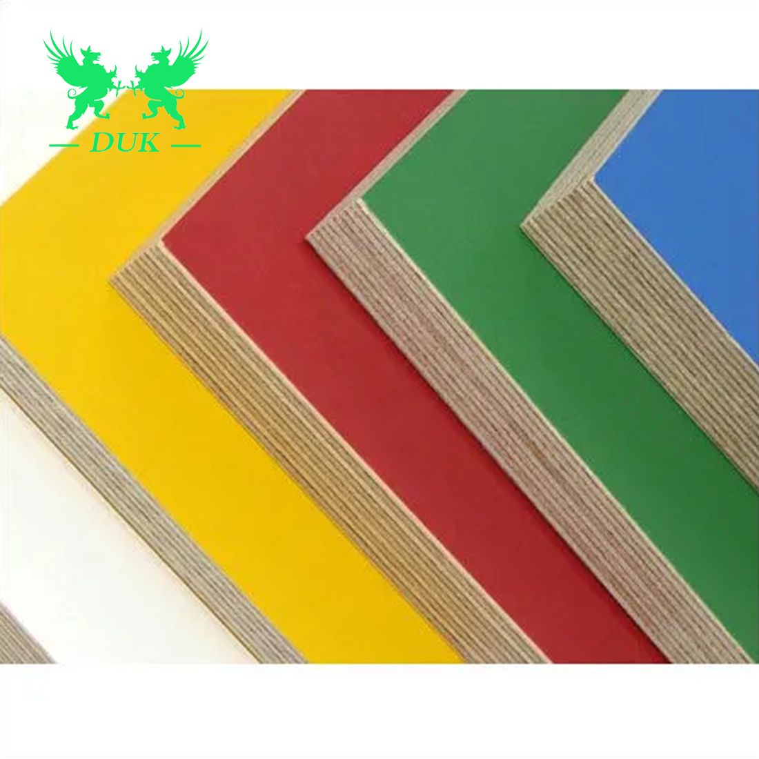 1220 <strong>X</strong> 2440mm 3mm,4mm,5mm,9mm, 12mm, 18mm Melamine Laminated Colored Paper Faced Plywood