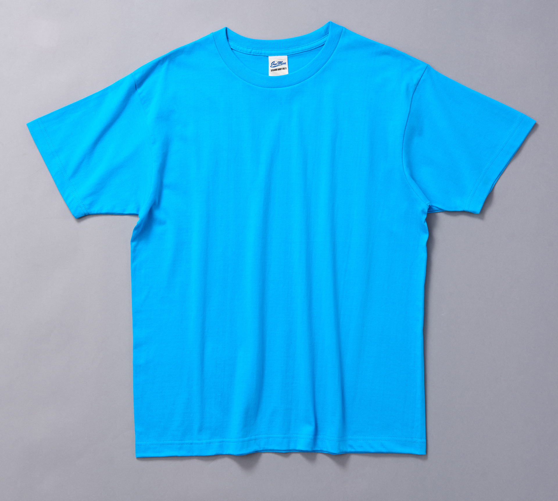 100%cotton blank round neck t-shirt short sleeve soild color printable t-shirt