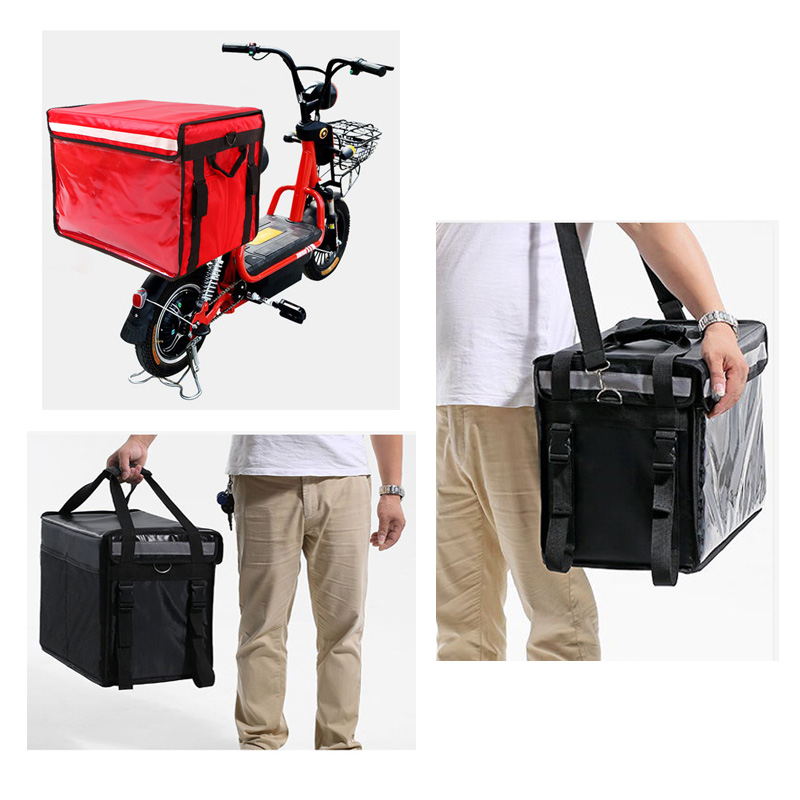 Insulated delivery bag,Waterproof Leak Proof Warmer Cooler Commercial Premium Insulated Food Delivery Bag,Factory Durable Waterproof Multipurpose foldable large cooler box Food Delivery Cooler bag