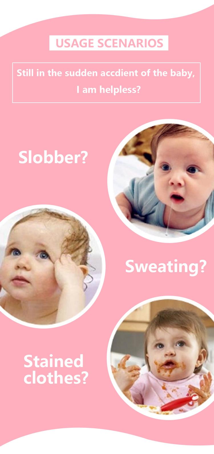 Bset selling Cotton teething drool bib,Reusable Washable Baby Bandana Drool Bibs for Drooling and Teething