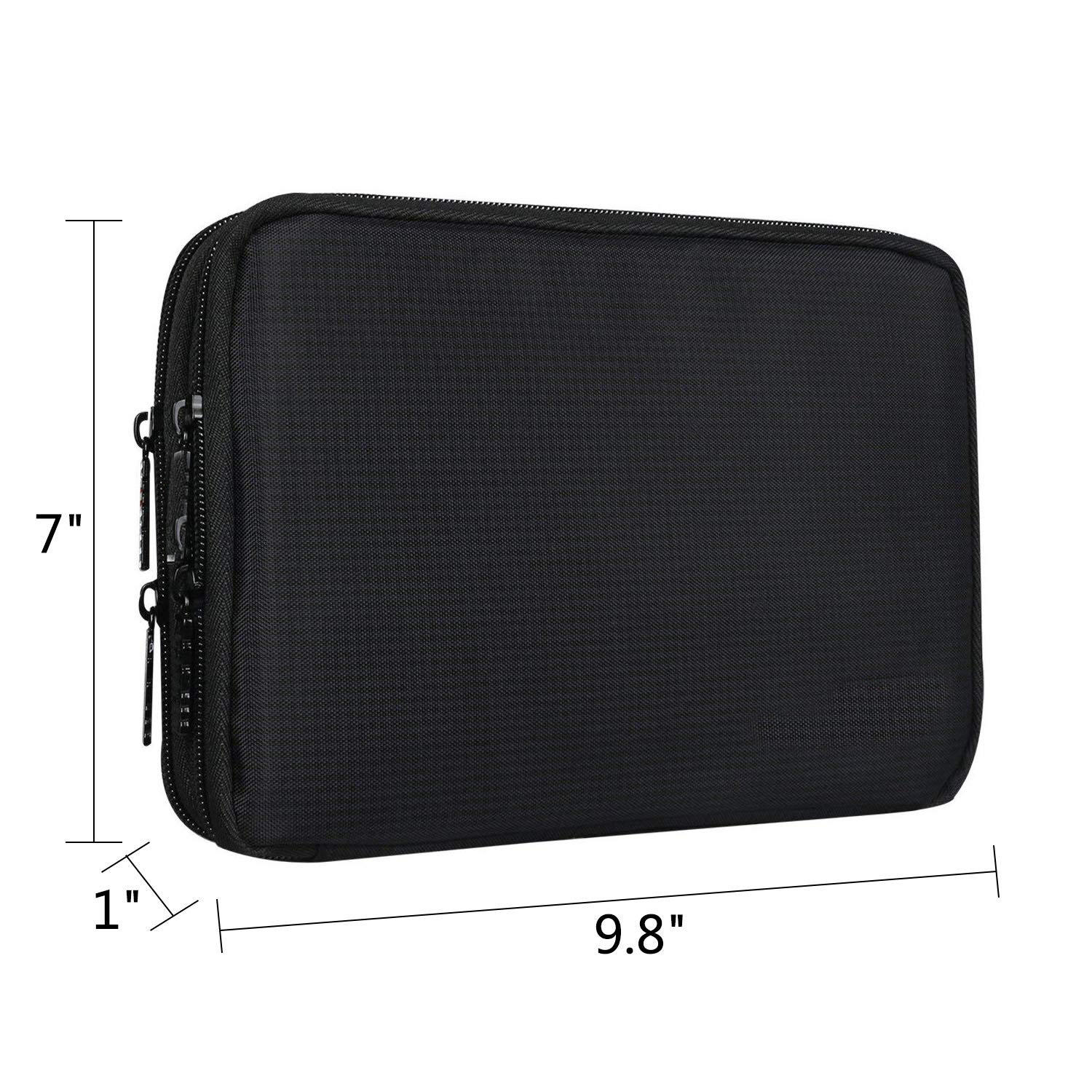Double Layer Electronic Accessories Organizer, Travel Gadget Bag for Cables, USB Flash Drive, Plug and More, Perfect Size