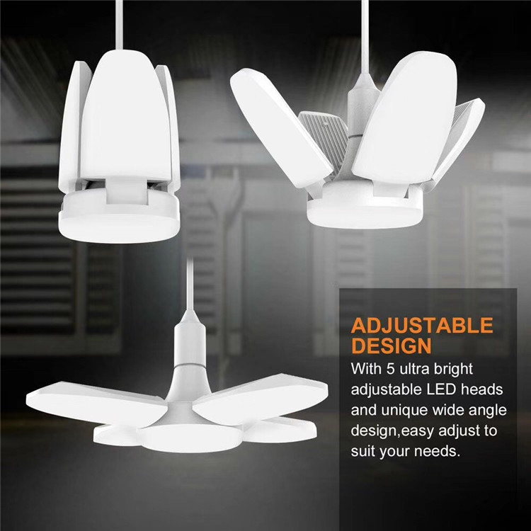 fan blade LED <strong>bulb</strong> ceiling fans with lights Garage Light 45W 60W E27 Foldable Ceiling Workshop Lamp <strong>bulb</strong>