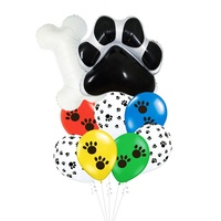 CYmylar paw party supplies balloon dog bone foil balloon set for baby boy birthday party decoration