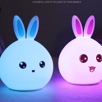 Top Selling Bunny Silicone Night Light Led Lamp Kids Toy Patting Lamp